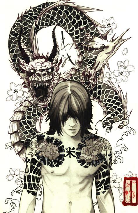 joker yakuza tattoo mafia by agarwen on deviantart