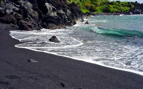 black sand beaches hawaii hawaii black sand wallpaper