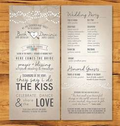 sle wedding ceremony program template wedding programs with non tradition ceremony