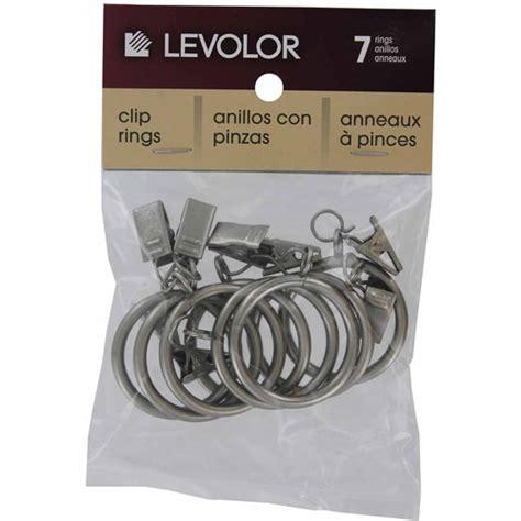 curtain clip rings walmart levolor kirsch a58720012 satin nickel clip rings 7 count