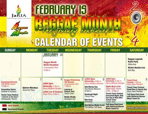 reggae month calendar 2014 digjamaica blog