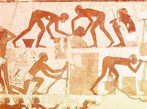 Ancient Egyptian Wall Murals construction of a wall from the tomb of egyptian as art