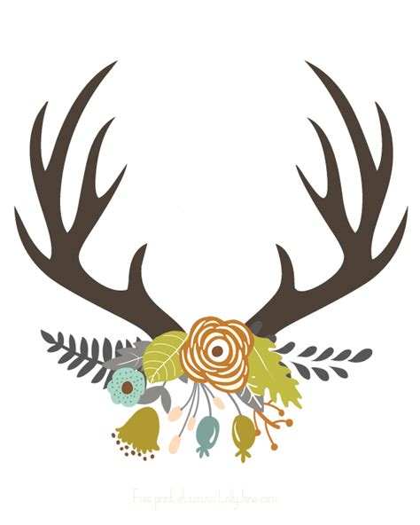 free printable fall flowers fall antler art free printable antlers and printing