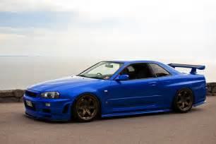 R34 Gtr Nissan Skyline Motoriginal Nissan Skyline Gt R R34 Blue Baller