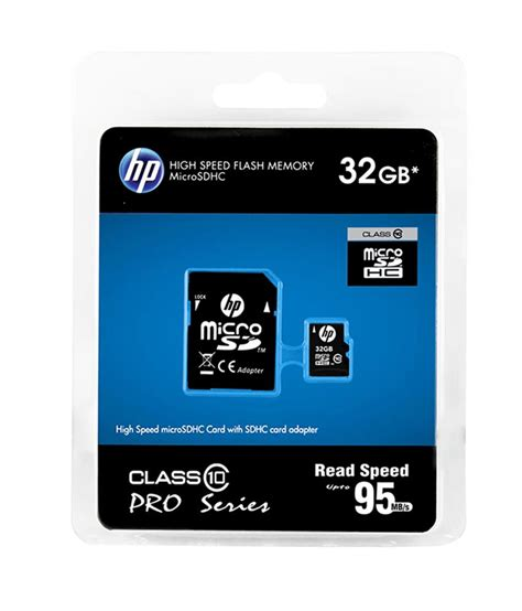 Memory Hp Micro Sd 32gb hp 32gb micro sd card 95mb s class 10 buy hp 32gb
