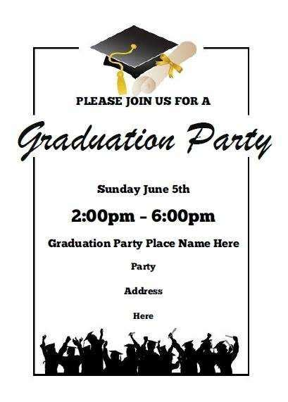 Free Graduation Party Invitation Templates For Word Luxury 27 Luxury Graduation Invitation Ideas Graduation Dinner Invitation Template Free