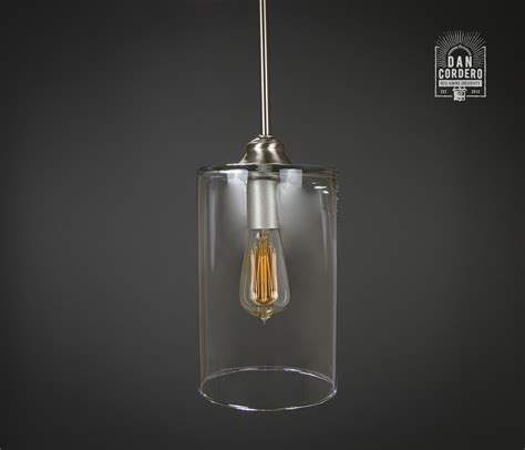 Brushed Nickel Light Fixture Pendant Light Fixture Edison Bulb Brushed Nickel Wide Cylinder Dan Cordero