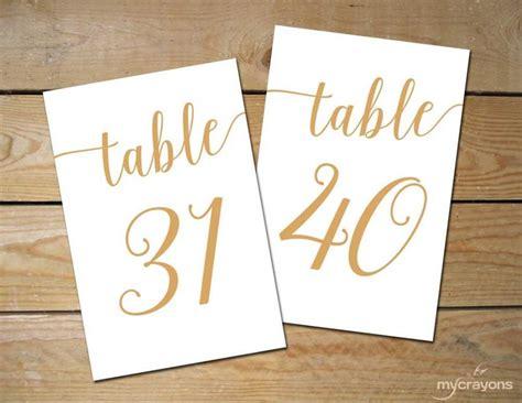 4x6 printable table numbers printable table numbers 31 40 bella script gold table