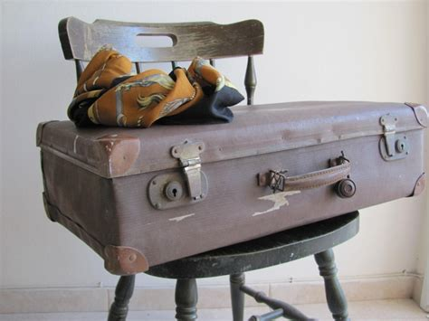 vintage luggage home decor antique old vintage suitcase luggage 1930 s brown travel