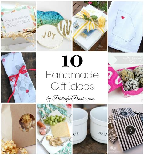 Handmade Gift Ideas - 10 handmade gift ideas for pennies