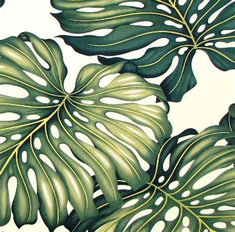 Monster High Bedding And Curtains Upholstery Fabric Tropical Hawaiian Fabric Monstera Green