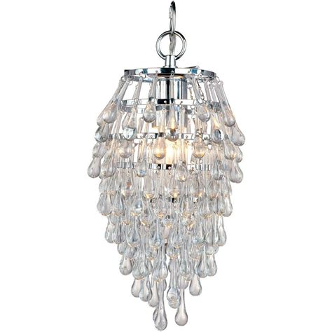 Small Chandelier Lights Af Lighting Teardrop 1 Light Chrome Mini