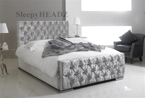 quot florida crushed velvet crystal diamante bed