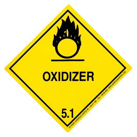 hazardous dot hazmat labels class 5 1 hazmat