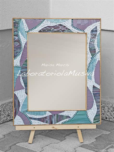 specchiera con cornice a mosaico specchi complementi d