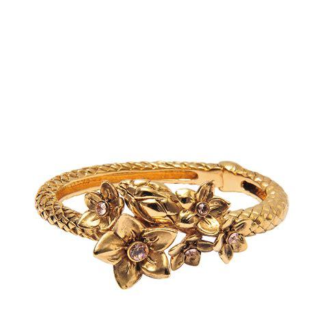 Cavalli Jewelry roberto cavalli serpent bouquet bracelet in gold lyst