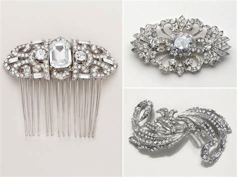 Vintage Inspired Wedding Hair Accessories by Vintage Inspired Bridal Hair Accessories And Wedding