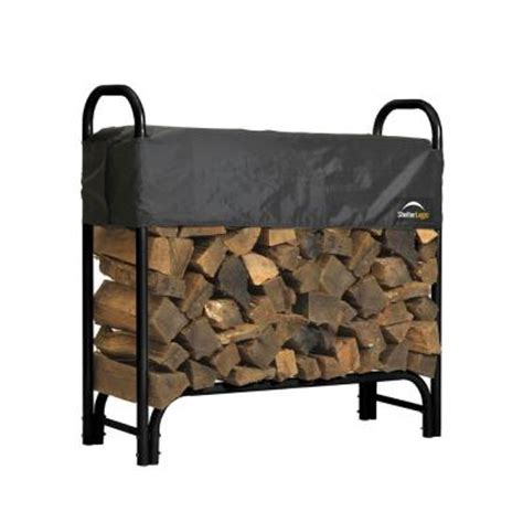 Home Depot Wood Rack by Shelterlogic 4 Ft Firewood Rack With Cover 90401 The