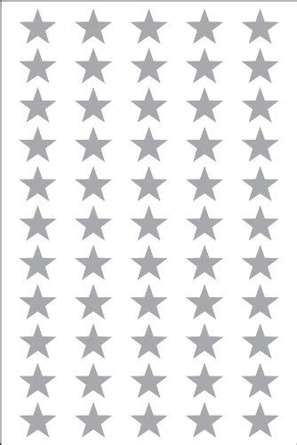 printable gold star stickers amazon com smart sticker silver star shape stickers 3 4