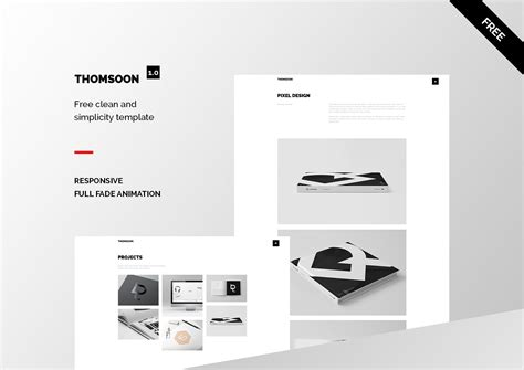 responsive portfolio template free thomsoon free responsive portfolio theme on behance