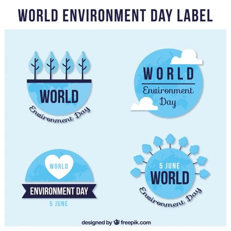 design for the environment label great labels for world environment day in flat design