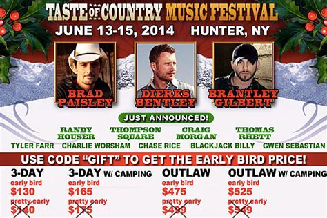 country music festival jacksonville 2014 lineup nine great artists added to 2014 taste of country music