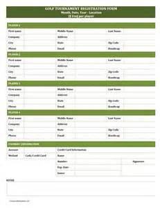 Golf Outing Registration Form Template golf tournament registration form freewordtemplates net