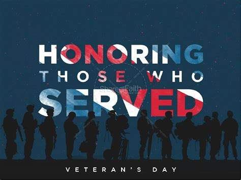 Veterans Day Honoring Those Who Served Church Powerpoint Powerpoint Sermons Veteran Powerpoint Template