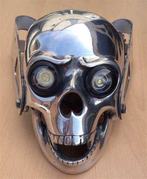 Skull Chopper Bobber Custom Motorcycle Headlight With Skull Lights
