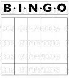 bingo sheet template the cutting cafe blank bingo card printable st set