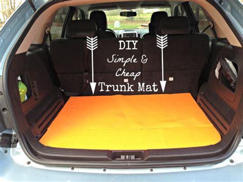 Car Trunk Closet diy easy and cheap trunk mat idea go grow go