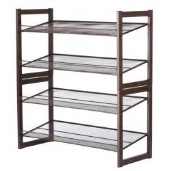 langria 4 tier angled metal mesh shoe rack home shelf