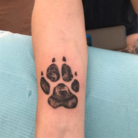 panda paw tattoo dog paw prints make the most pawesome tattoos ever and