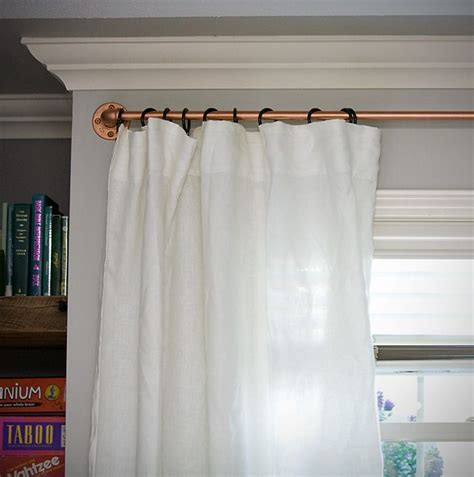 copper pipe shower curtain rod 17 best images about curtain rods on pinterest window