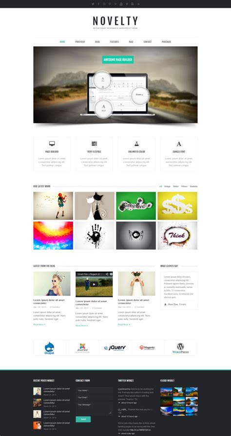 wordpress themes free unique novelty a premium creative wordpress theme free download