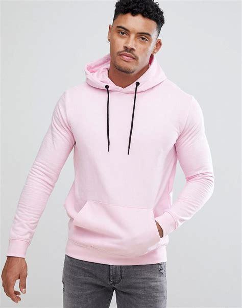 bershka hoodie in pink in pink for lyst