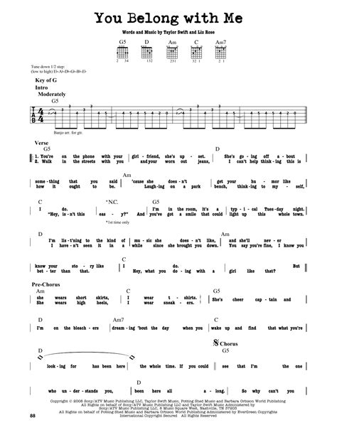 taylor swift delicate lyrics and chords you belong with me sheet music direct