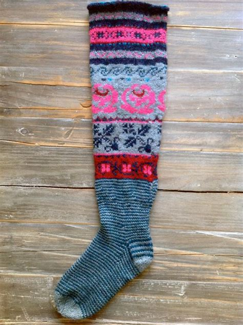 pattern long socks long socks made with patterns from the book meite muhu