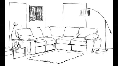 draw a room how to draw a living room youtube