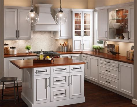 Kraftmaid White Kitchen Cabinets Kraftmaid Cabinetry Transitional Kitchen
