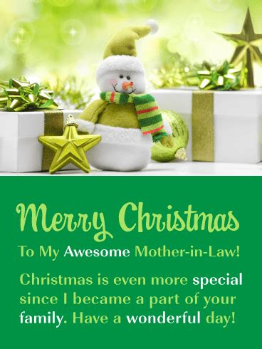 youre awesome merry christmas card  mother  law birthday greeting cards  davia