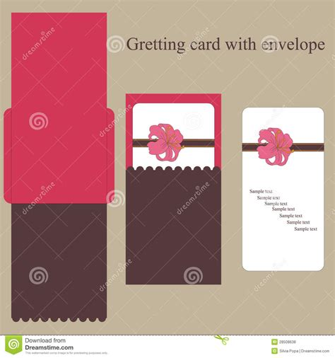 how to make greeting card envelope greeting card with envelope royalty free stock photos