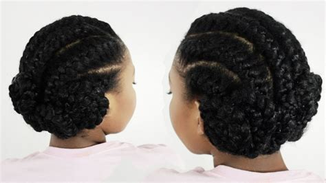 black goddess braids hairstyles goddess braids pinwheel bun under braid hairstyles for