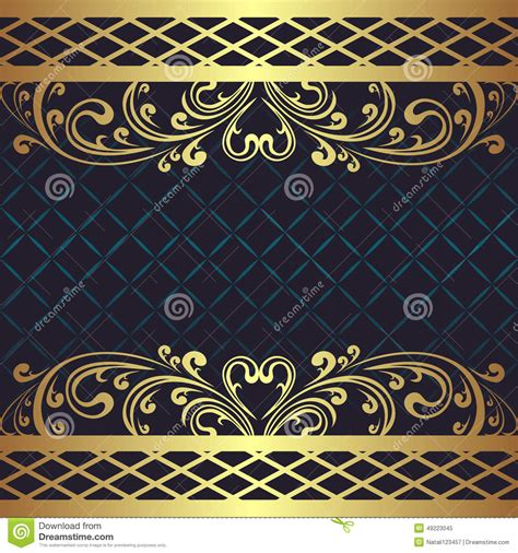 navy blue background decorated the golden royal border royalty free navy blue and gold border www pixshark com images