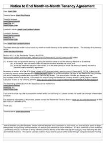 Letter To End Lease Agreement by 47 Eviction Notice Templates Sle Letters Free Template Downloads