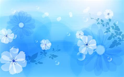 Flower On Blue Wallpaper Desktop Wallpaper Wallpaper Blue Flower Powerpoint Backgrounds Hd Free Wallpaper