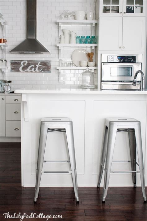 bar stools for white kitchen new barstools and a big announcement the lilypad cottage