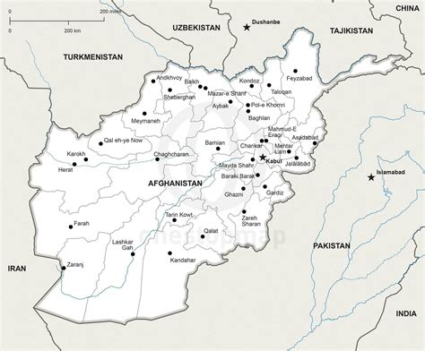 political map of afghanistan vector map of afghanistan political one stop map