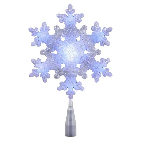 kurt adler white blue led snowflake tree topper at hayneedle