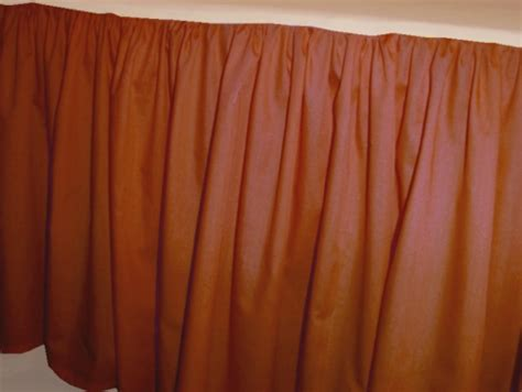 rust bed solid rust colored bedskirt in all sizes from twin to cal king also in crib size and
